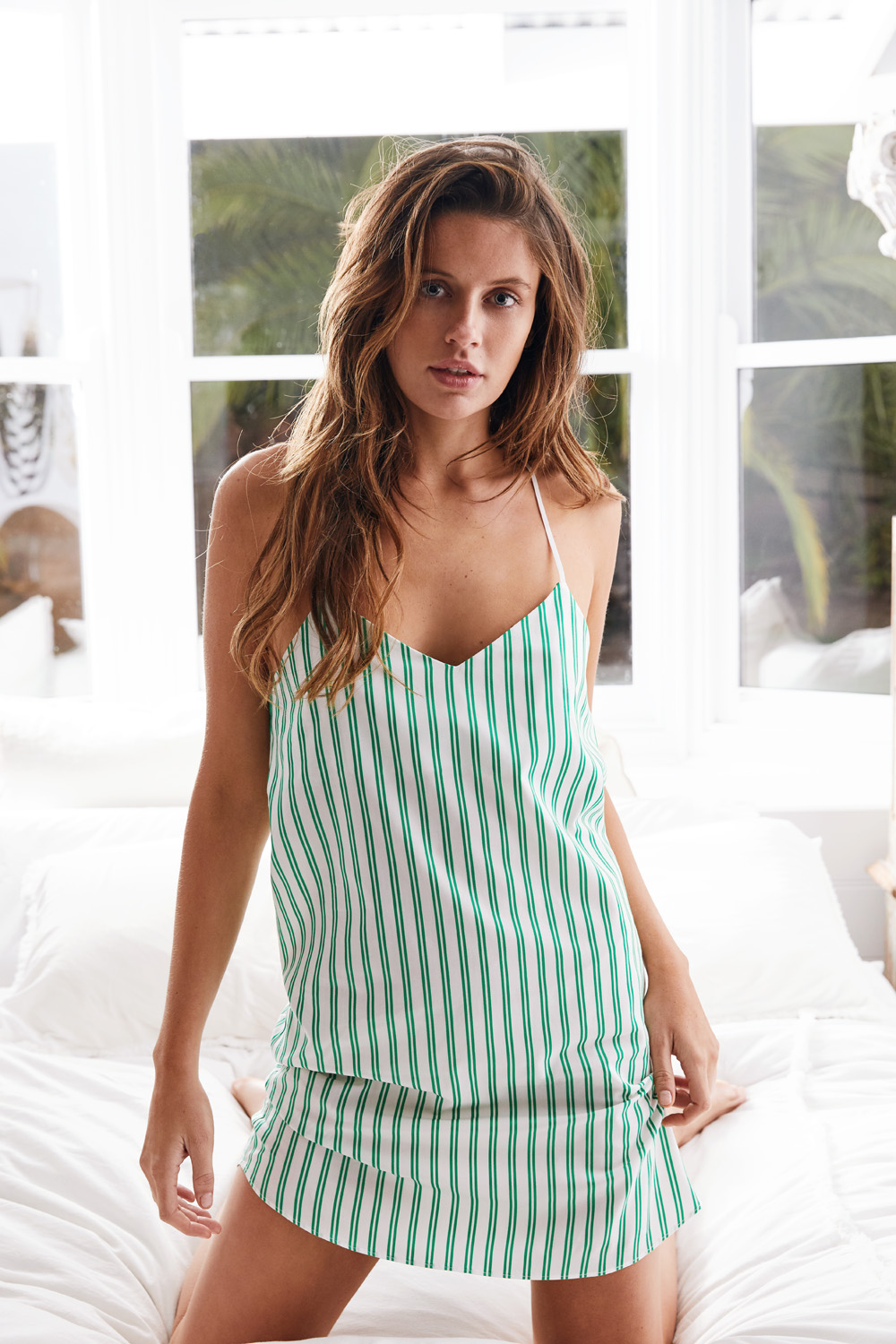 The Willow Camisole Slip Dress - Front view