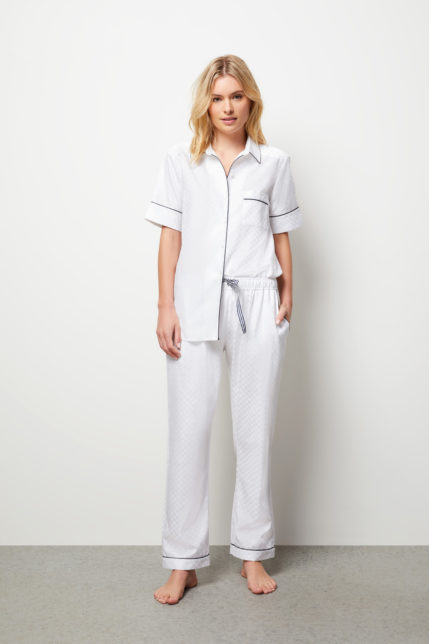 The Lily Pyjama Set Short Sleeve - Front view